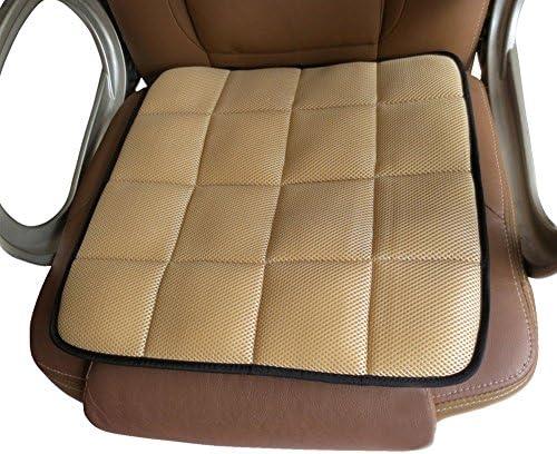 EQLEF Sitzkissen natürliche Bambusholzkohle Bürostuhl Kissen Auto Anti-Skid Kissen (Beige)