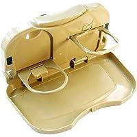 AB SALES Food Tray Folding Dining Table, Auto Back Foldable Car Backseat Storage Organizer