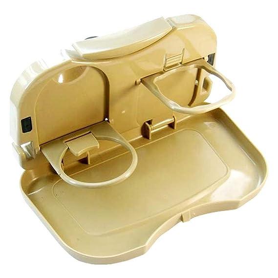 Dhruheer Multi Function Food Tray Folding Dining Table, Auto Back Foldable Car Backseat Storage Organizer