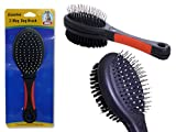 DOG 2-WAY BRUSH 8.5'' LONG BLACK +RED HANDLE , Case of 96