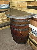 Copper Top Wine Barrel Table: Half Barrel Table