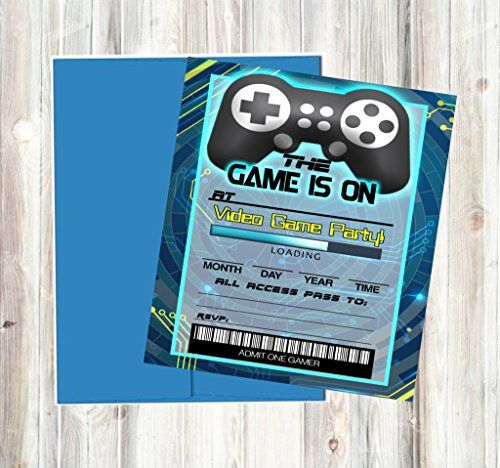 Video Game Themed Party Supplies for Your Gamer (Invitations) Game Invitation