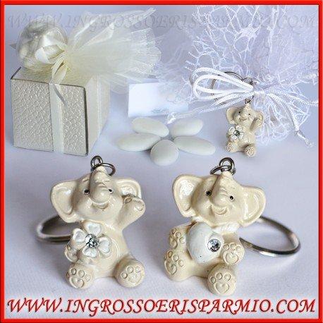 Colgantes/llavero de resina con forma de elefantes con un ...