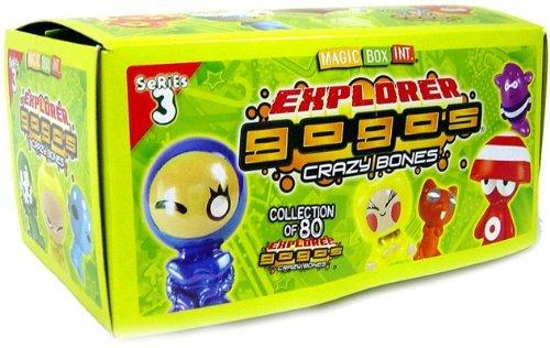 Crazy Bones Gogos Series 3 Explorer Booster Box 30 Packs by Mortomagic (Crazy Bones New)
