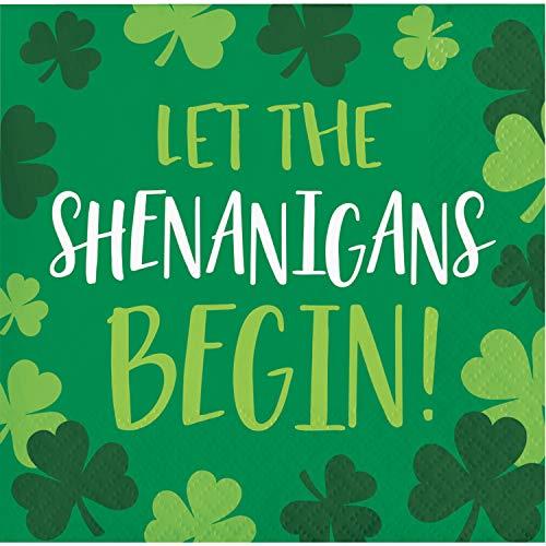 (St. Patrick's Shenanigans Beverage Napkins, 48 ct)