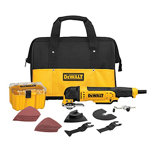 DEWALT Oscillating Tool Kit, Corded, 3-Amp, 29 Pieces - 3 Kit Tool