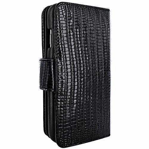 Piel Frama U717LA WalletMagnum Coque pour iPhone 6 Plus Lézard Noir