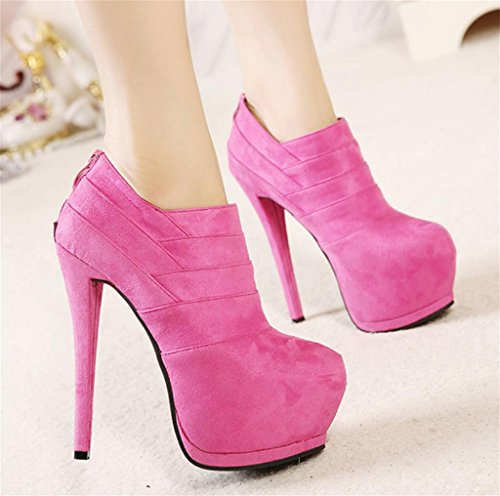 Ankle HETAO Heeled Temperament Chelsea Platform Womens elegant shoes Ladies Red High Block Size Personality Heel Heels Rose Boots Booties Pnrw4qFSP8