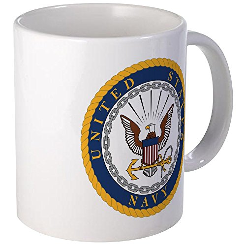 CafePress US Navy Emblem Unique Coffee Mug, Coffee Cup