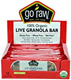 Go Raw Organic Raisin Crunch Sprouted Bar 10 Bars 14 g Each