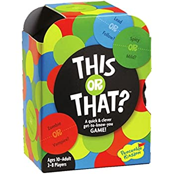 Peaceable Kingdom GM111 This Or That - Get To Know You Game