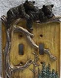 bear light switch plate - Slifka Bear Double Switch Plate Cover