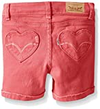 Levi's Toddler Girls' Summer Love Shorty Shorts, Claret Red, 4T