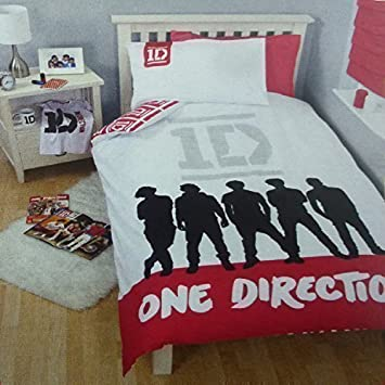 linge de lit one direction FAME PaILLETTES IMPRIMÉ ONE DIRECTION PaRURE DE LIT HOUSSE DE  linge de lit one direction