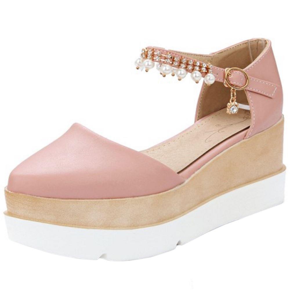 Zanpa Femmes Moda Moda Flatform Sandales Talon Pink Zanpa Compense Pink bb6ca2a - robotanarchy.space