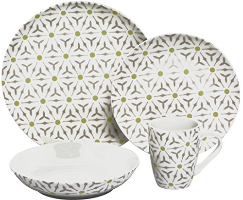 Melange Coupe 16-Piece Porcelain Dinnerware Set (Romance) | Service for 4 | Microwave, Dishwasher & Oven Safe | Dinner Plate, Salad Plate, Soup Bowl & Mug (4 Each) Review