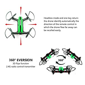 Racing Drone, FLYTEC T18 Wifi FPV Quadcopter with 720p HD Camera Live Video with App-Controlled 2.4GHz 6-Axis Gyro Auto Return VR Ready Altitude Hold Headless Mode Drones for Kids  by Flytec