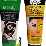 Black Mask Purifying Peeloff Mask Reviews COMBO: 2 Peel OFF Masks - Gold Collegen & Bamboo Charcoal - ALL PEEL OFF MASKS by One & Only USA