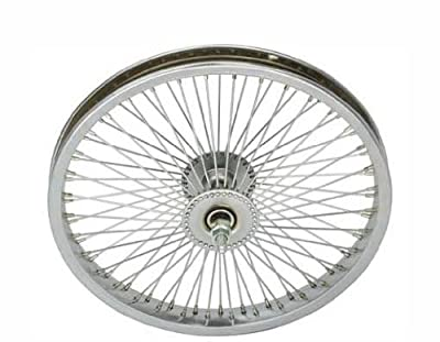 "16"" 72 Spoke Front Wheel 14G Chrome. Bicycle wheel, bike wheel, Lowrider bike wheel, lowrider bicycle wheel, chopper, cuiser, bike part, bicycle part"