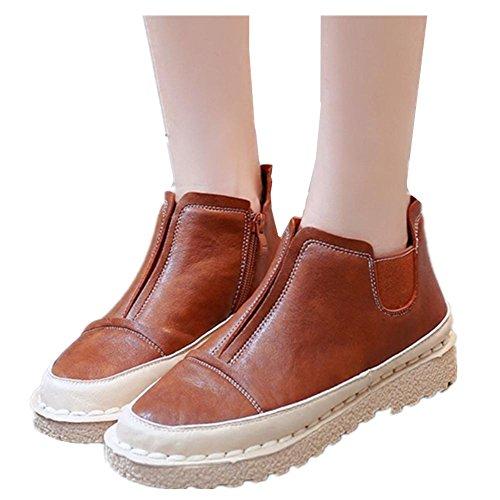 Nuevos zapatos de cuero de zapatos casuales zapatos de fondo plano 1