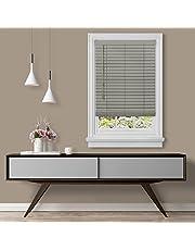 "Achim Home Furnishings Cordless GII Madera Falsa 2"" Faux Wood Plantation Blind 23"" x 64"", Grey"