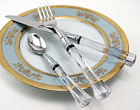 - Deshoulieres,Philippe Venus-Clear Pickle Fork Pierced with Short Handle HC