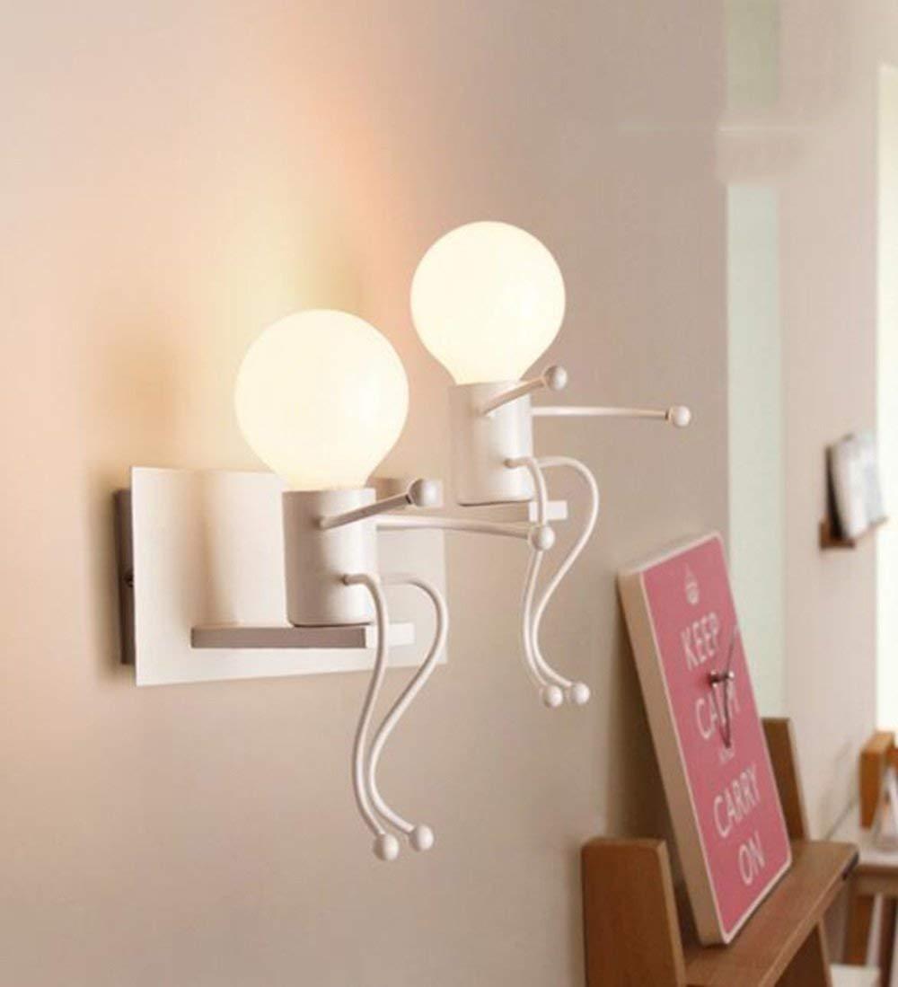 FuweiEncore Nachttischlampe Modern einfach zu starten Die Schlafzimmer Flur Korridor Wandleuchte (Farbe  Rot-31  18  22 cm). (Farbe   Weiß-31  18  22cm)