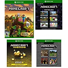 Minecraft Master Collection Xbox One 4 Download Card Set