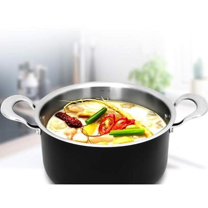 Ollas para pasta Olla de sopa olla de leche caliente del hogar olla de fideos instantáneos olla de sopa guisada, olla de estofado de avena olla de sopa ...