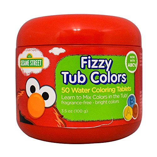 Sesame Street Fizzy Tub Colors 3.5 Ounce (50 Tablets)]()