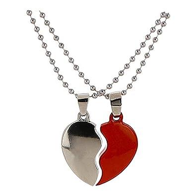 Buy style tweak red silver broken heart pendant necklace for women style tweak red silver broken heart pendant necklace for women and men aloadofball Gallery