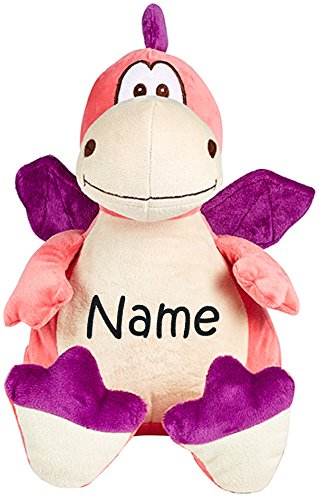 Personalized Stuffed Pink and Purple Dragon with Embroidered Name