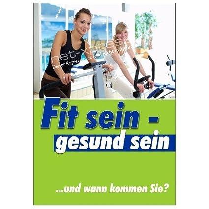 Cartel como Fitness-Studio-Werbung Din A1, Cartel de ...