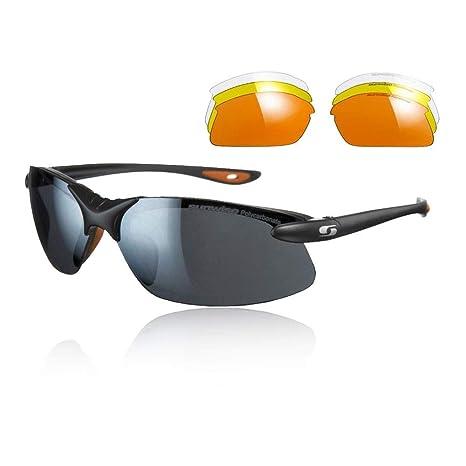 0060590a2c4f Sunwise Windrush Interchangable Sunglasses - Black  Amazon.co.uk ...