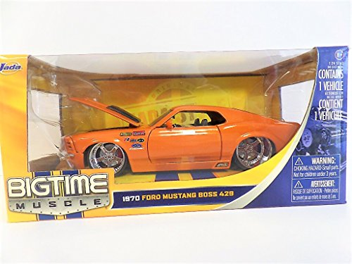 1970 Ford Mustang Boss 429 - 1:24 Scale Diecast Model Car (ORANGE) Version Diecast Car Model