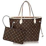 Louis Vuitton Neverfull Best Deals - Authentic Louis Vuitton Neverfull MM Monogram Canvas Beige Handbag Article:M40995