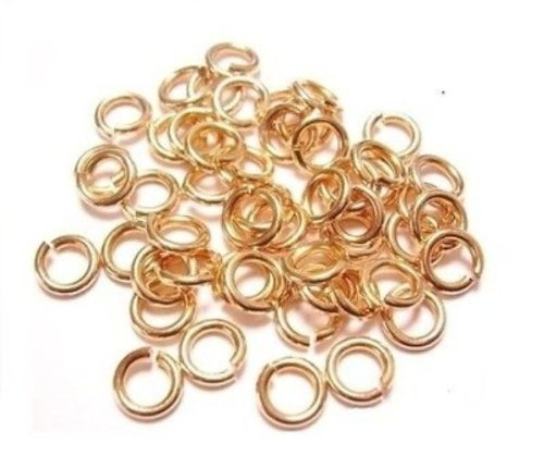 18 Ga Solid Bronze 5 Mm O/d Jump Ring 350 P. 1 Oz Saw-cut Made in USA