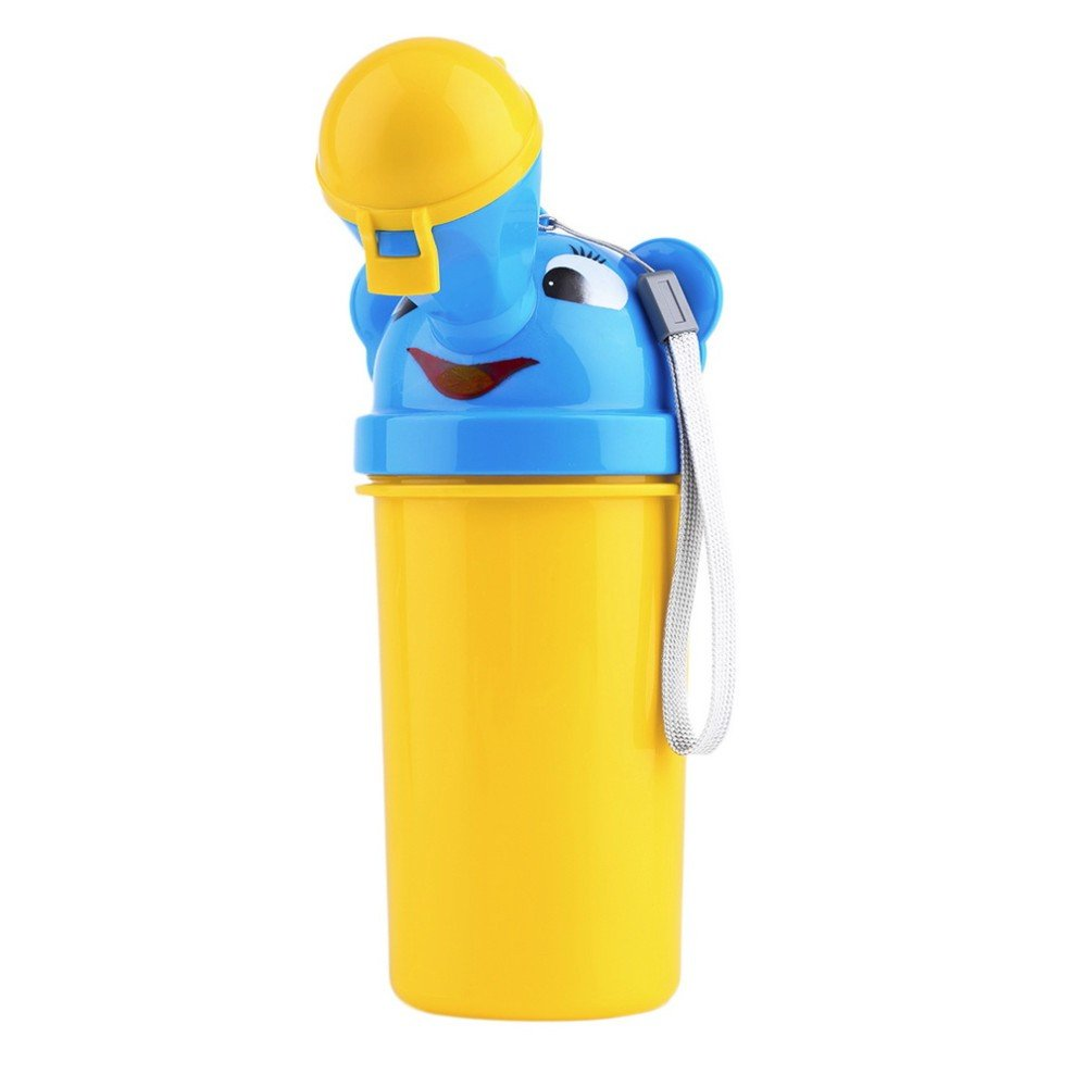 STOBOK Portable Emergency Urinal Toilet Potty Toddler Pee Training Cup for Baby Child Kids Car Travel Outdoor Camping Supplies Blue