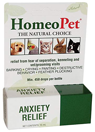HomeoPet Anxiety Relief, 15 Milliliters, Natural Pet Calming Product