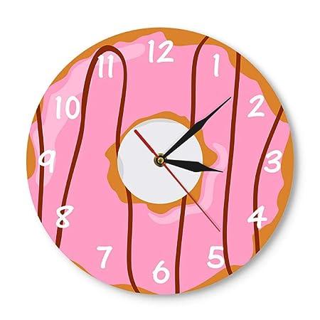 Djkaa Colorido Reloj de Pared Impreso Donut Kawaii Postre ...