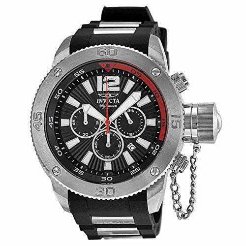 [Invicta Signature II Russian Diver Black Dial Chronograph Mens Watch 7422] (Invicta Russian Diver Chronograph)