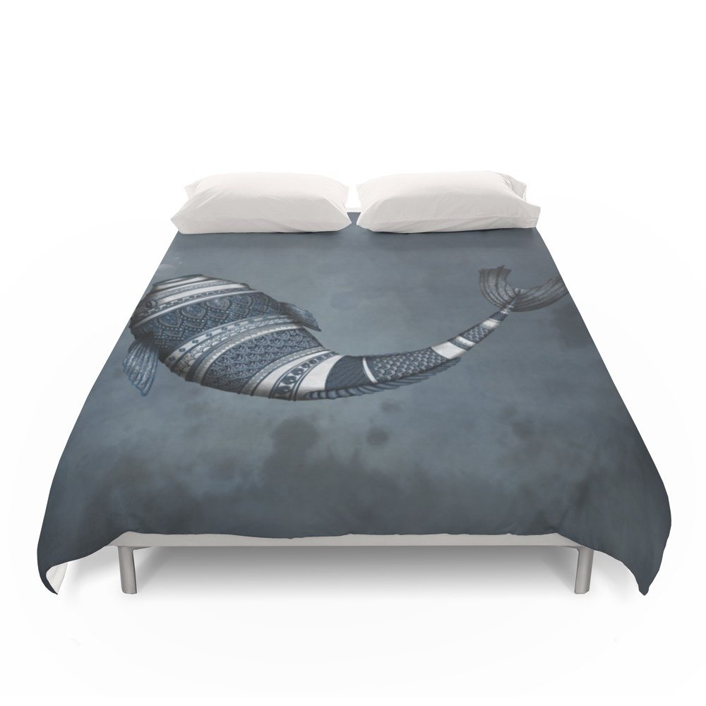 Society6 Poisson Thai Duvet Covers Full: 79'' x 79''