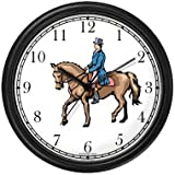 Dressage Horse and Rider Horse Wall Clock by WatchBuddy Timepieces (White Frame)