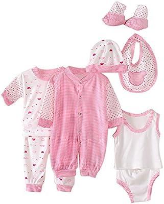 Per 8 piezas Conjuntos de ropa para bebé Canastilla de algodón Traje de bebé Regalo para Recién Nacido: Amazon.es: Bebé
