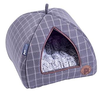 Petface Gamuza de iglú de Cesta de Forro Polar con Cuadrados: Amazon.es: Productos para mascotas
