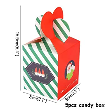 XCLWL Bolsas Regalo Christmas Candy Box Decoraciones para ...