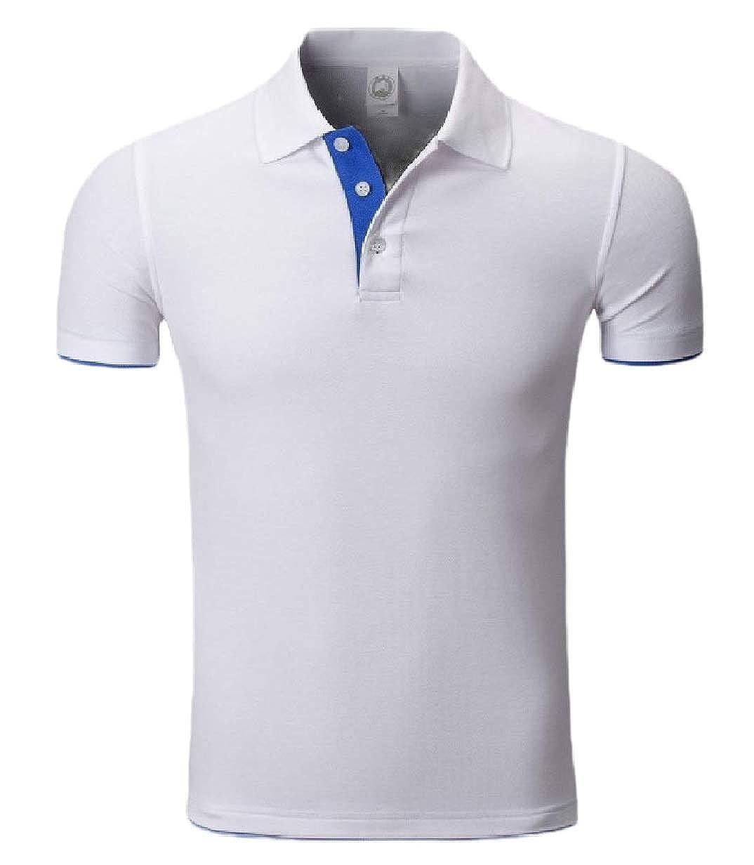 CBTLVSN Mens Solid Color Summer Slim Linen Cotton Short Sleeve Polo T Shirts