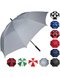 Golf Umbrella 58/62/68 Inch Large Oversize Double Canopy Vented Windproof Waterproof Automatic Open Stick Umbrellas For Men and Women