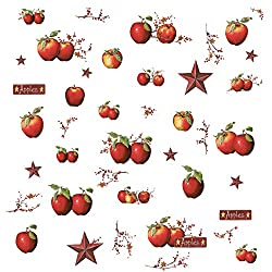 RoomMates Country Apples Peel and Stick Wall Decals