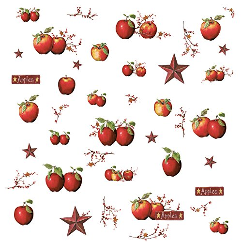RoomMates Country Apples Peel and Stick Wall Decals - RMK1570SCS